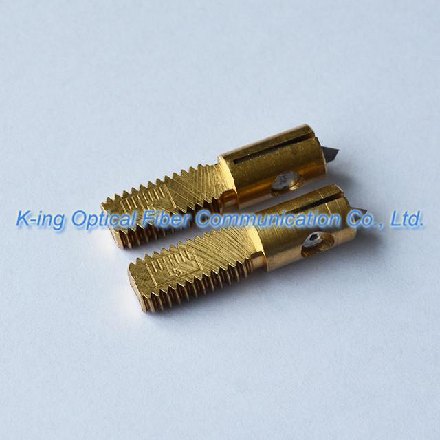 Apertura Longitudinal Cuchillo Longitudinal Cable Vaina Cortadora de Cable De Fibra Óptica Stripper SI-01 Reemplazar la cuchilla cabeza de corte de repuesto