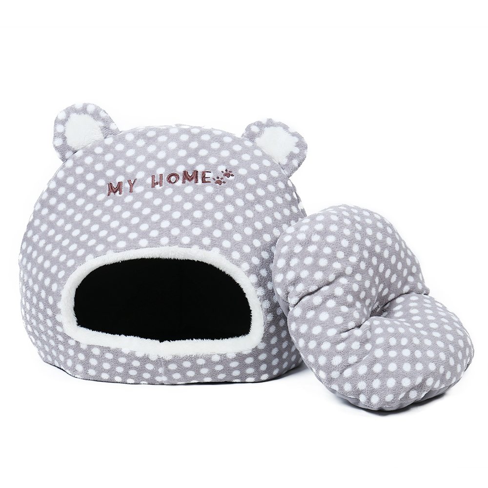 Free Shipping Cute Warm Soft House For Cat Basket Small Medium Puppy Litter Dog Bed Lounger For Animal Cama Home Kennel Cave #5