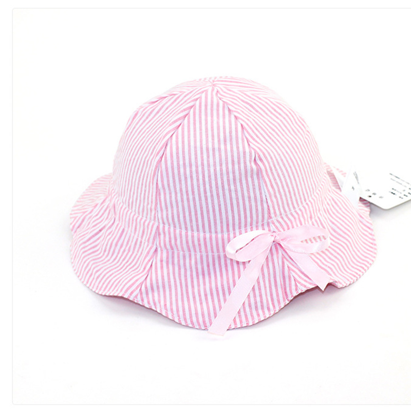 New Baby Girls Sweet Sun Hats Summer Breathable Cotton Butck Hats with Wide Brim Sunscreen Kids Travling Beach Caps Adjustable