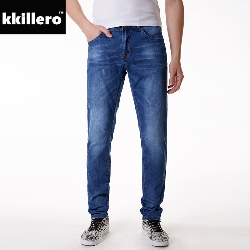 Full Size 28-48 Jeans Men Regular Fit Soft Stretch Quality For Comfort Elastane High Quality Five Pockets As Classic Details