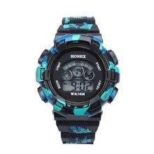 Fashion Children Watch Waterproof Cool Mens Boys Digital LED Quartz Alarm Date Sports Wrist Watch dropshopping free shipping #40