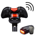 Беспроводной велосипедный умный задний фонарь с защитой от кражи защита от взлома Romote контроль шок датчик безопасная вспышка Велосипедное ...