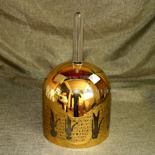 """Около 5,"""" платины или 24 k золото кристалл поющие чаши с ручкой и любой дизайн с G или G# или A или# Примечание"""