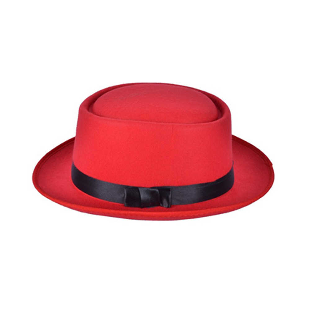 ... Retro New Womens Felt Fedoras Pork Pie Crushable Hat BREAKING BAD Hat  Walter for Men Trilby ... bdcb4a1f515a