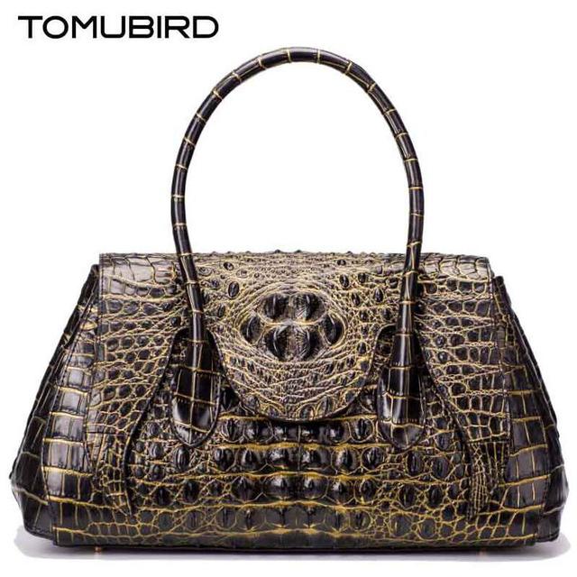 2016 Novas mulheres bolsa de couro genuíno marcas grão jacaré em relevo saco de qualidade da moda de luxo bolsas de couro das mulheres