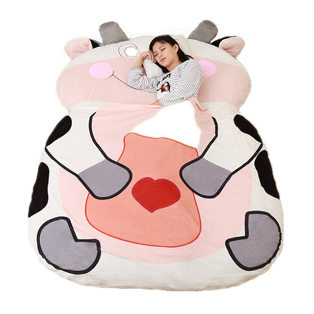 Giant Stuffed Animal Chinese Zodiac Sofa Bed Soft Plush Sleeping Bag Mat Dog Monkey Chicken Tiger Dragon Cow 12 Models 2 Sizes