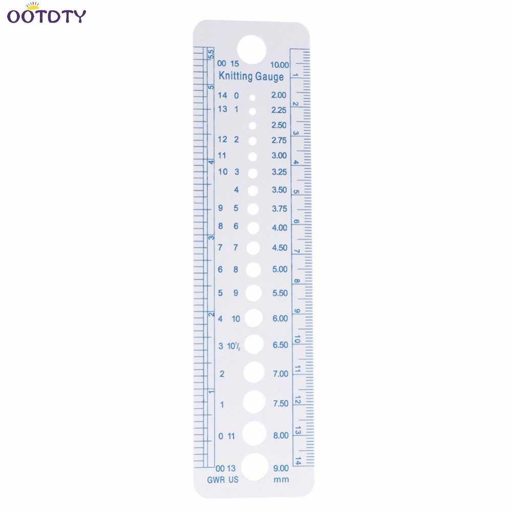 الحياكة مقياس حاكم أداة قياس البلاستيك الأزرق خط لينة قوية دائمة-ThFi