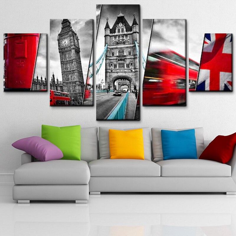 Aliexpress.com : Buy Modern home decor 5 pieces UK flag and ...