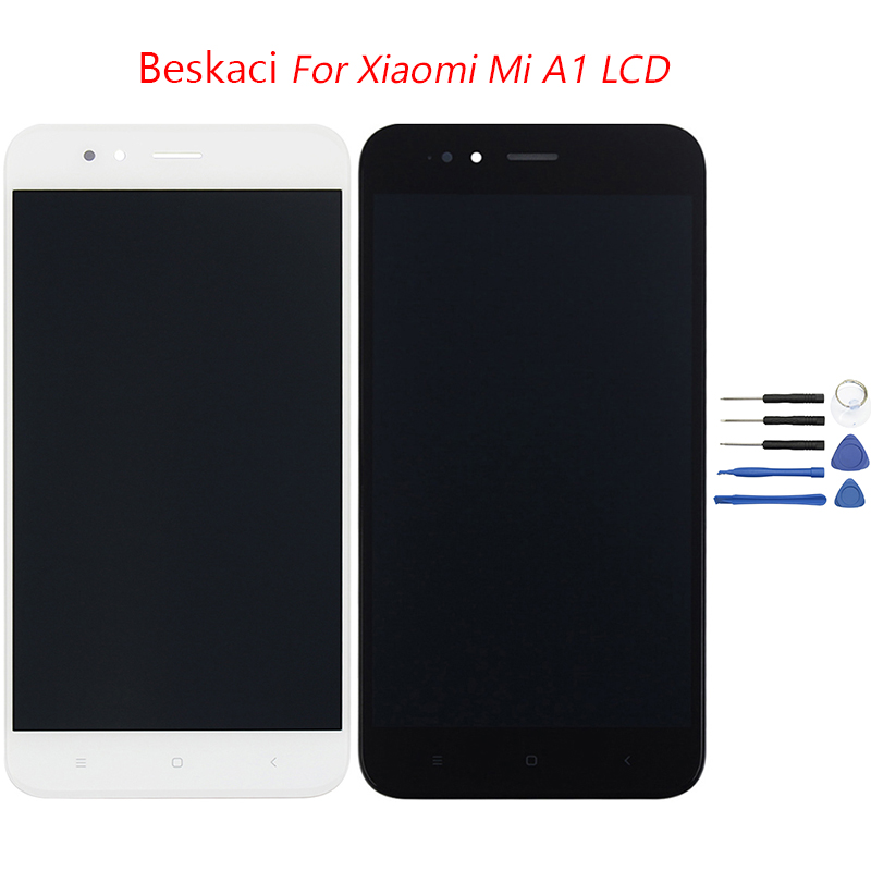 Beskaci Mi A1 LCD For Xiaomi 5X Mi A1 LCD Screen Frame With Touch Panel Display Digitizer Assembly For Xiaomi 5X LCD