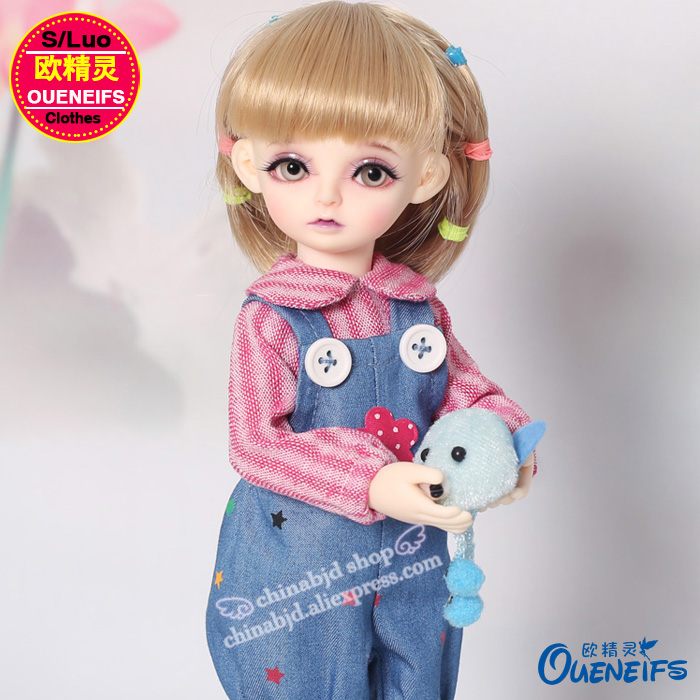 OUENEIFS free shipping long sleeved doll clothes and Jeans pants,1/6 bjd sd doll clothes,no doll or wig YF6-152 bjd doll clothes sd msd yosd doll clothes daily leisure long sleeved t shirt