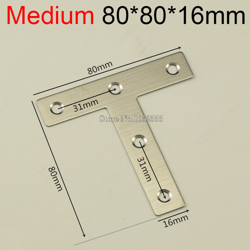 ᗐwholesale 500pcslot 8080mm Stainless Steel Angle Corner Brackets