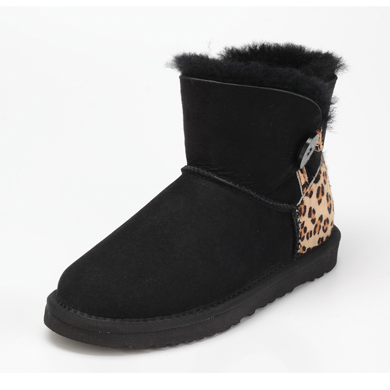 Quality assurance, sheep skin wool snow boots female buckle with winter flat bottomed warm short boots, free shipping ubz women snow boots australia sheepskin wool snow boots female winter flat shoes bottomed buckle warm boots botas mujer