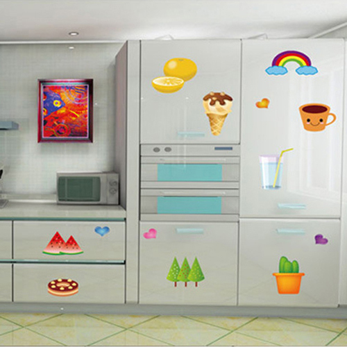 1 Set Removable PVC Waterproof Kitchen Wall Stickers Fruit