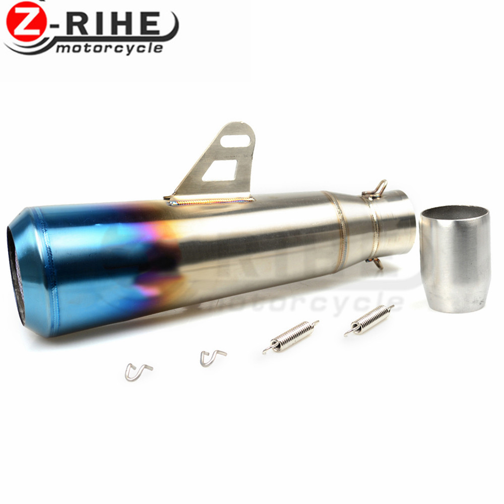 51MM Universal Motorcycle Exhaust Pipe Moto Muffler Escape Pipe With DB Killer For bmw ktm Kawasaki ER6N CB400