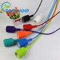 Stripe Muuto E27/E26 luz pingente lâmpada soquete titular Tecido stripe Silicone fio linha pendurado luminária cor ~ NENHUMA lâmpada