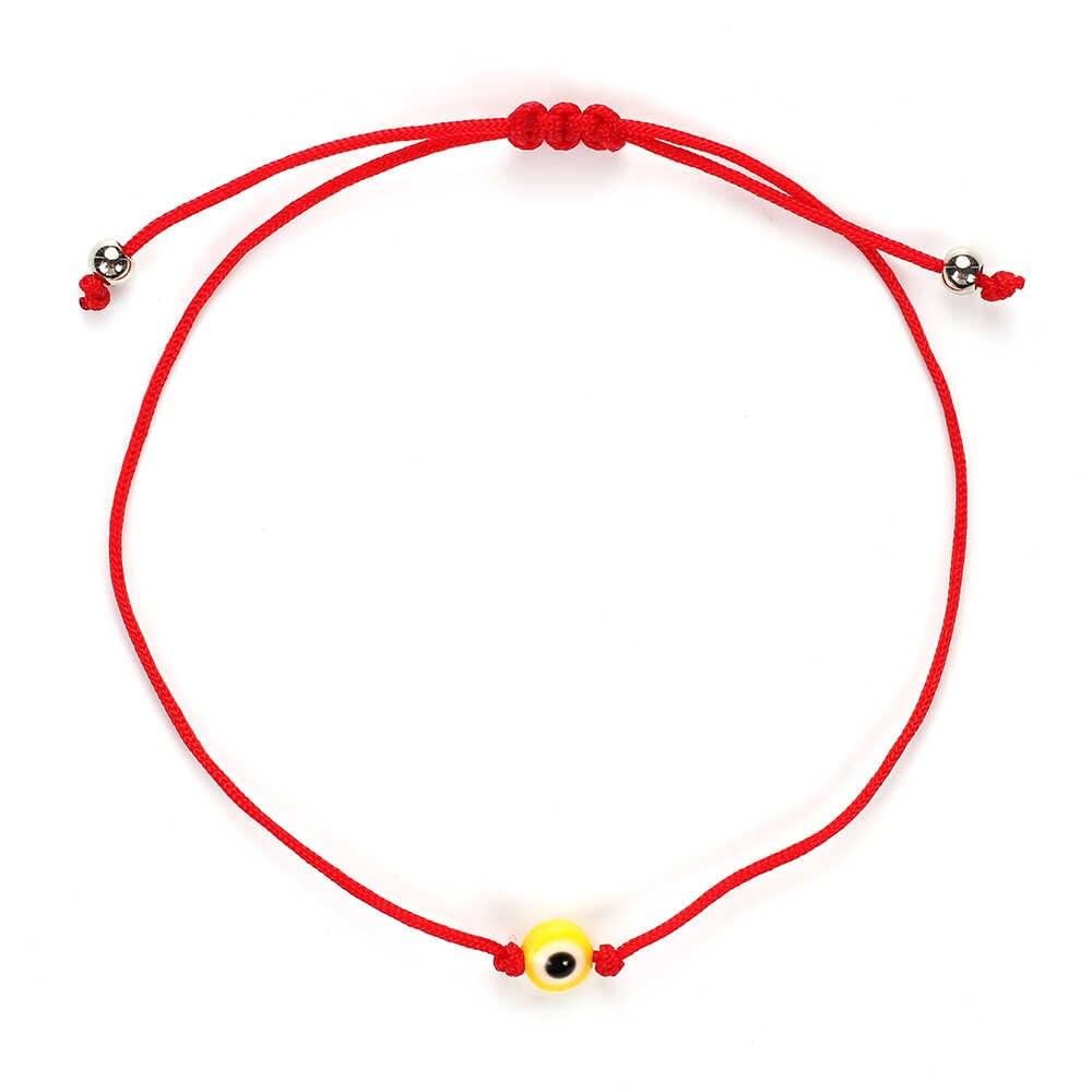 Lucky Eye ตุรกี Evil Eye Beaded Charm สร้อยข้อมือผู้หญิงที่มีสีสัน Handmade เชือกถักสีแดงสร้อยข้อมือเครื่องประดับ EY4990