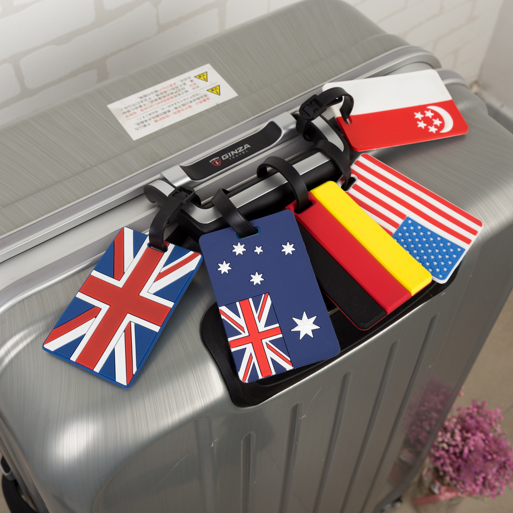 Travel Accessories Luggage Tag Luggage Cover for Travel Suitcase Tag National Flag Luggage Cover Cute Portable Label ID Holder цена 2017