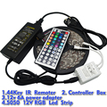 5M RGB Led Strip 5050 SMD Waterproof 60LED/M DC12V LED Strip Light 300 LEDs+44 Keys Remote Controller+12V 6A Power Adapter
