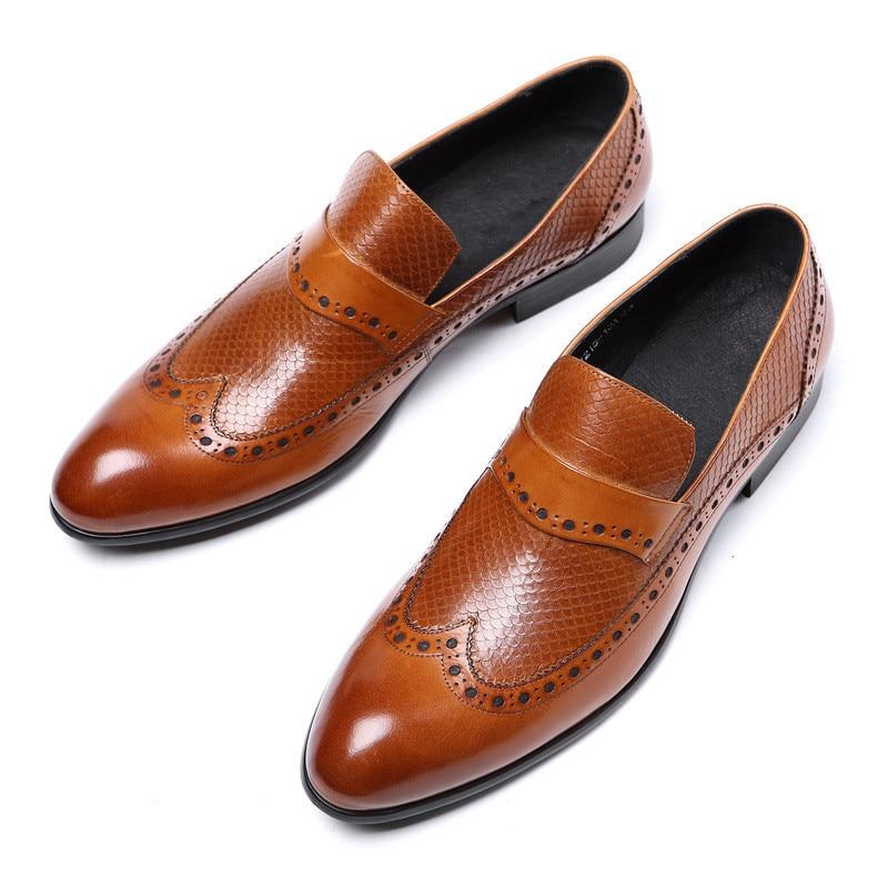 D 2 Glissement Noir En Italienne 2019 Chaussures Hommes Js Mode Cuir lcFTJK1