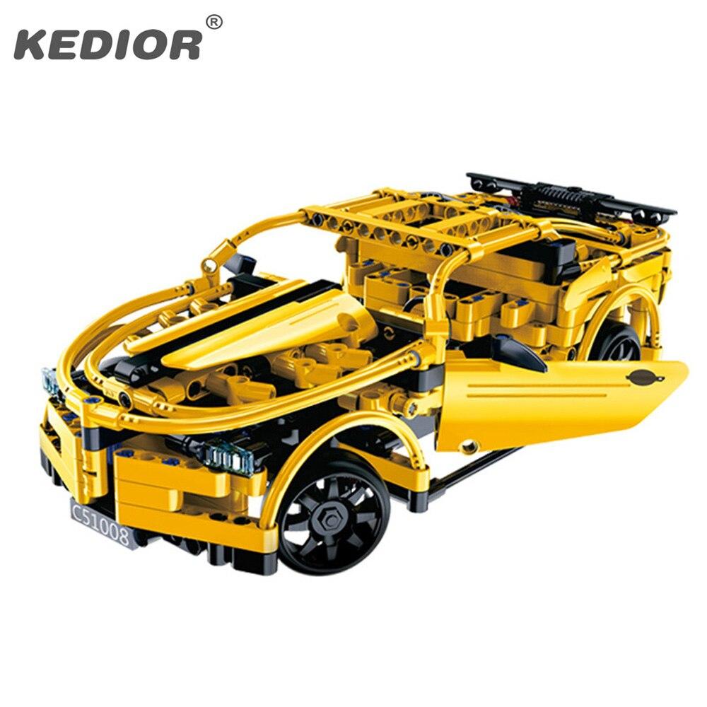 15 20KM H The RC Track Remote control Race Car Set Educational Building Blocks Bricks Toys