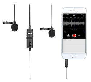 Image 5 - BOYA BY M1DM Lavalier Microphone 4m Omni directional Clip on Lapel Video Mic for iPhone Canon Nikon DSLR,Updated of BY M1