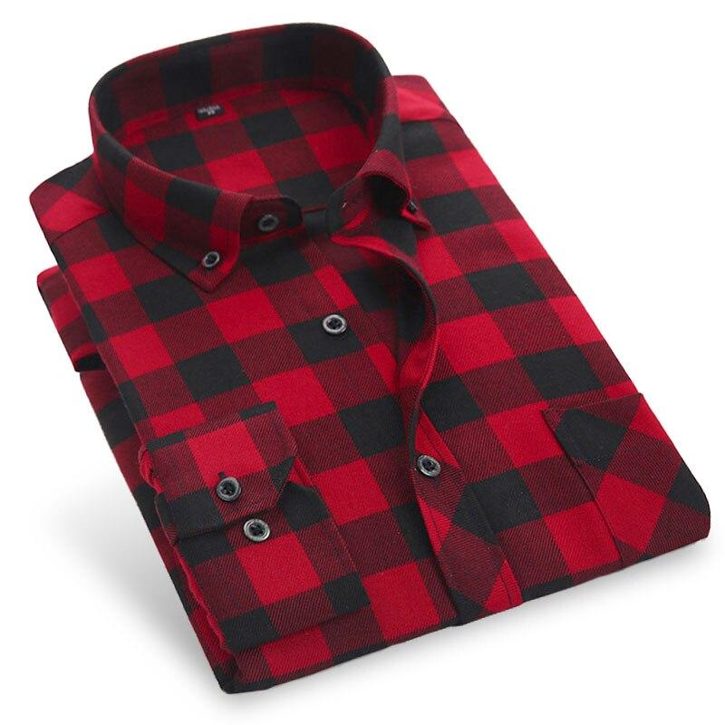 Buy 2017 autumn men plaid casual shirts for Best flannel shirt brands