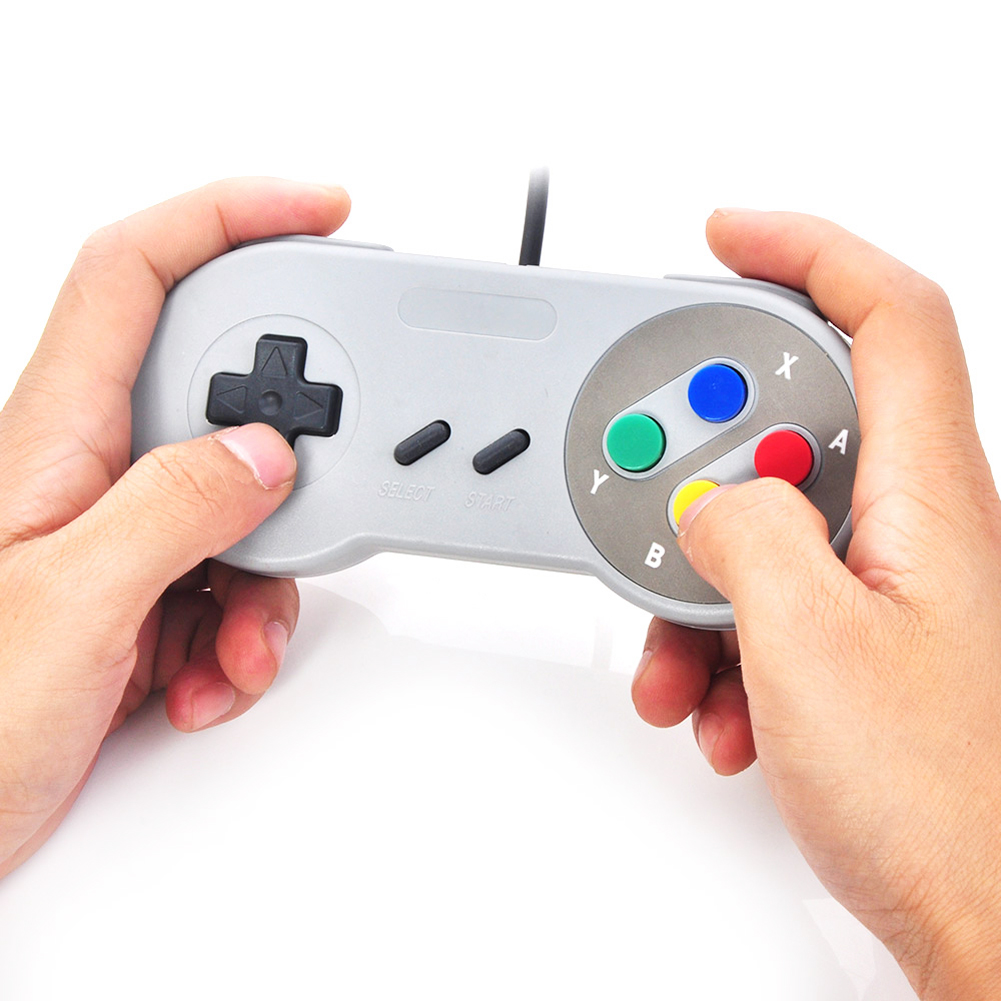 Retro Super USB Wired font b Gaming b font Controller Game Pad Joystick for PC MAC