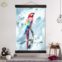 Colorful Parrot Modern Son Goku Wall Art Print Pop Picture And Poster Frame Hanging Scroll Canvas Painting Pictures