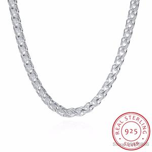 LEKANI 925-Sterling-Silver Necklace Jewelry 6MM Men Wholesale Men's 20inch New-Arrival