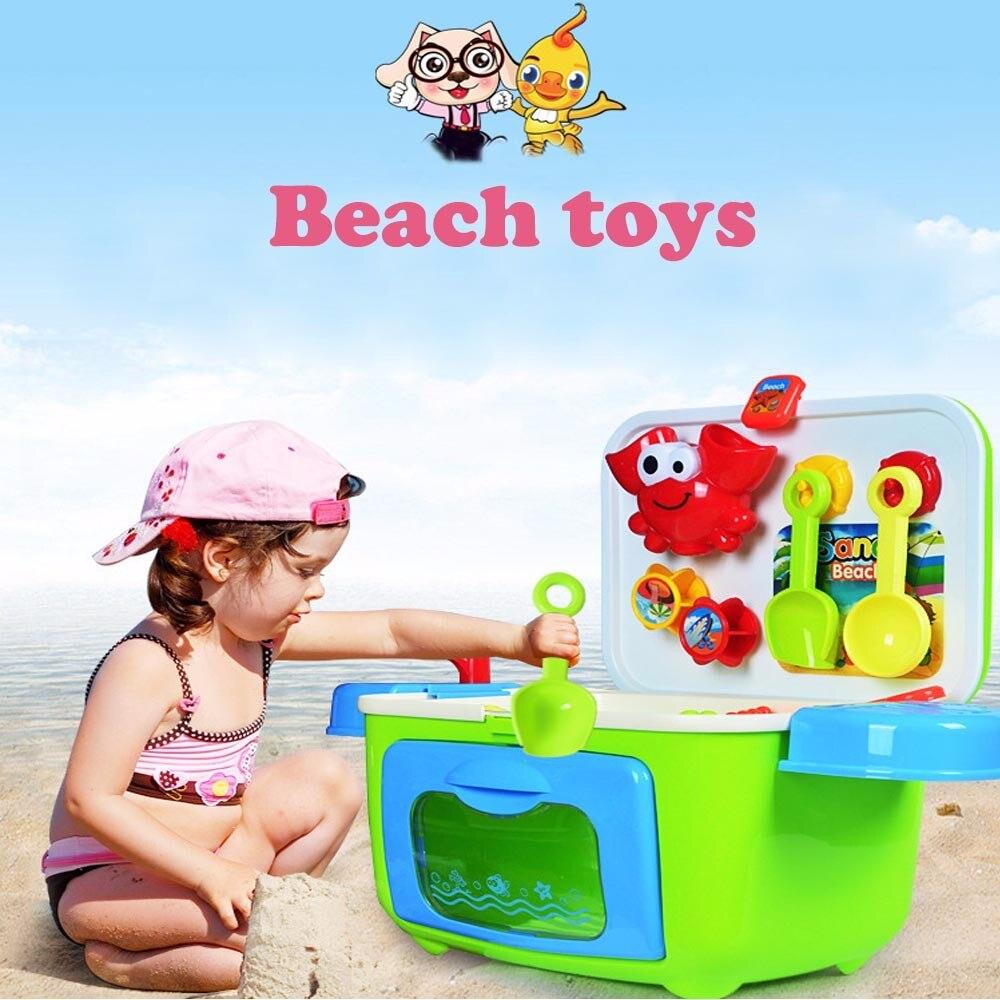 Sand Sandbeach Kids Beach Toys Bucket Spade Shovel Rake Water Tools Storage Box Swimming Pool Seaside Toys