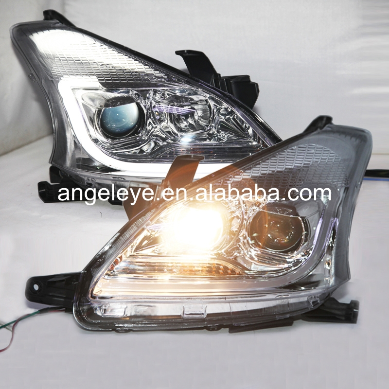 Right Hand Drive For Toyota AVANZA Head Lamp 2012-2014 Year LED Front Lamp Chrome Housing YZ right hand drive chrome housing led head lights with porjector lens for subaru forester pw