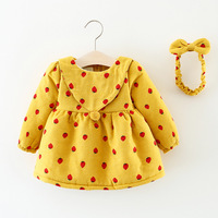 2017 New Arrival Print Casual Winter Korean Version Of The Girl Plus Velvet Cotton Cartoon Boutique Children's Clothing Hot