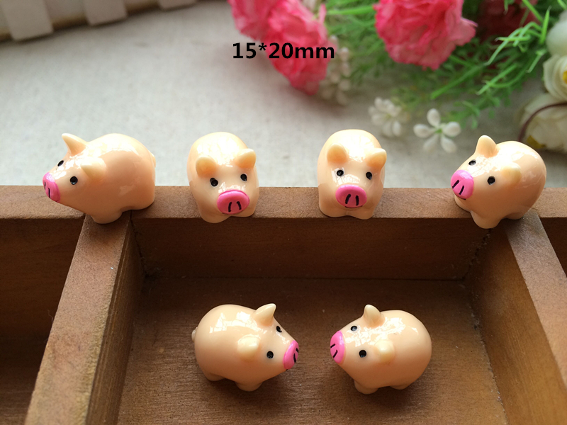 10pcs Mini Resin simulation pig Fairy Garden Terrarium Bonsai Landscape furniture Decor  ...