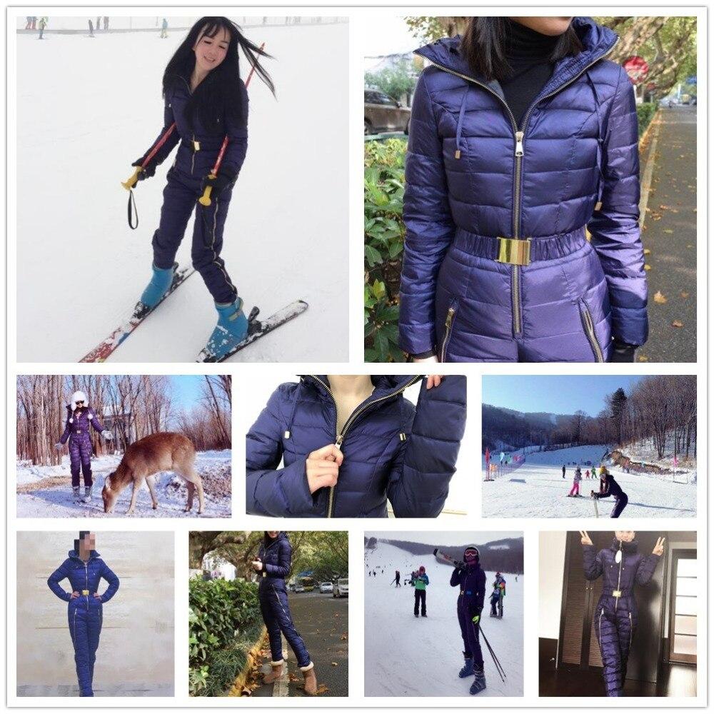 SAENSHING combinaison de Ski de montagne une pièce femmes duvet de canard combinaison de Ski d'hiver veste de Ski respirante en plein air costumes de neige d'hiver - 6