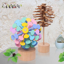 Rotary Decompression bar Fidget Roller Recreational Wood Novelty Toy Exhaust Artifact  Children's toys Gifts Rotary Relief Bar