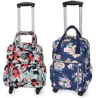 Bolso de viaje de negocios con ruedas para mujer, Mochila Oxford con ruedas, equipaje rodante
