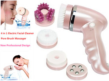 4 In 1 Electric  Facial Pore Cleaner Brush Massager  Rechargeable  Face Skin Care Pore Cleaner Scrubber