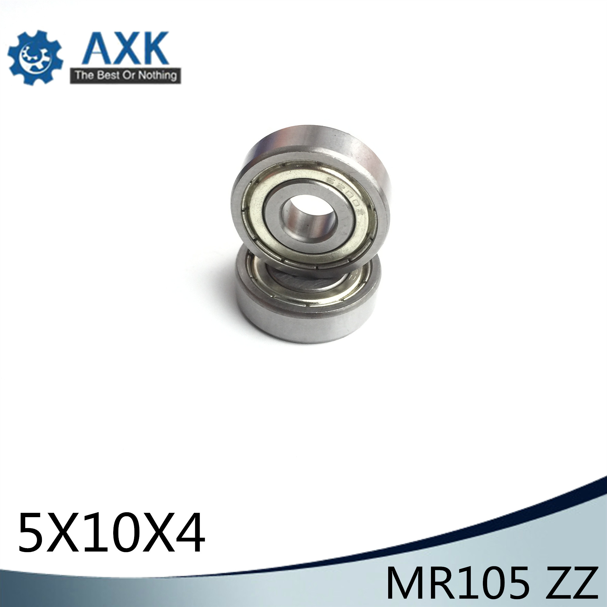 MR105ZZ Bearing ABEC-1 (10PCS) <font><b>5*10*4</b></font> mm Miniature MR105 ZZ Ball Bearings L-1050ZZ MR105z image