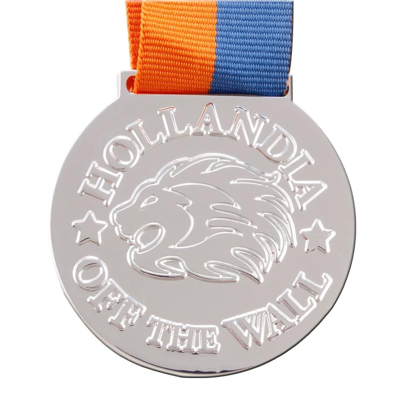 Custom Silver Medal Cheap Wholesale Metal Craft Blank Casting Zinc Alloy