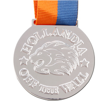 Custom Silver Medal Cheap Wholesale Metal Craft Blank Casting Zinc Alloy