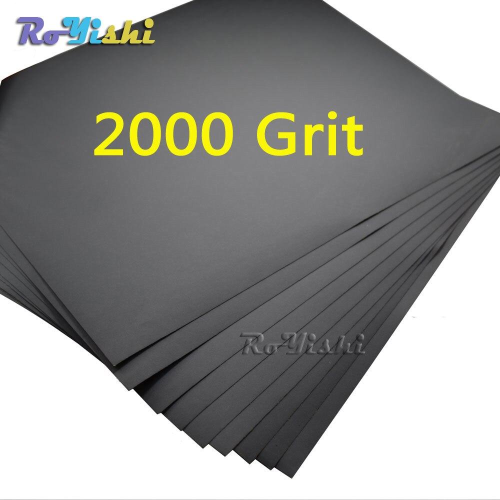 100 feuilles/pack 2000 grit Humide et Sec Papier de Verre Abrasif Imperméable À L'eau des Feuilles De Papier