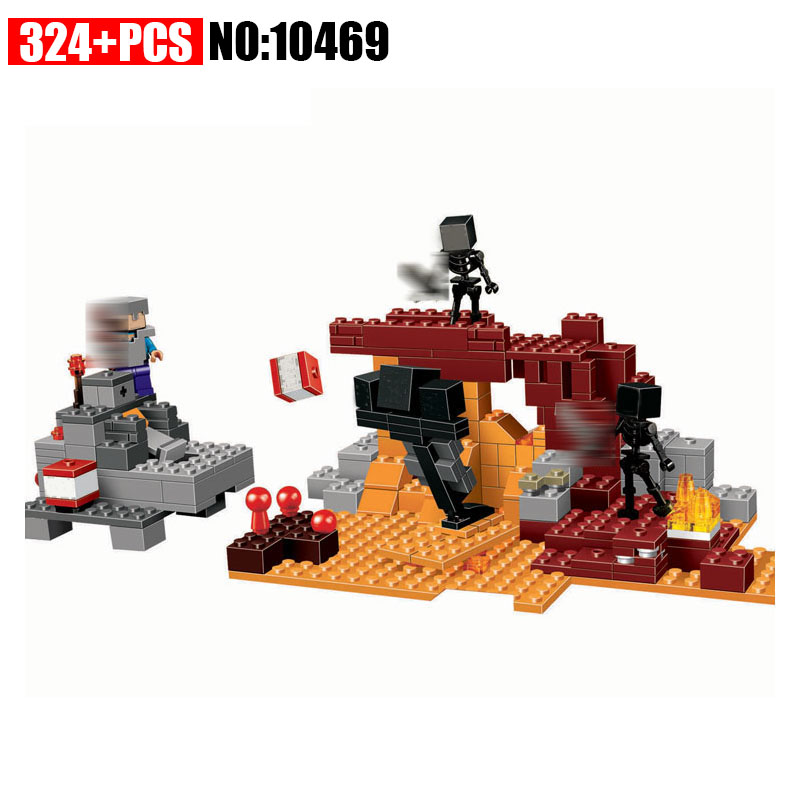 Bela New 10469 My worlds series The Wither model Building Blocks set Classic architecture toys for children compatible 21126 loz architecture series the robie house model nano block building block set classic landmark education toys for children 21010