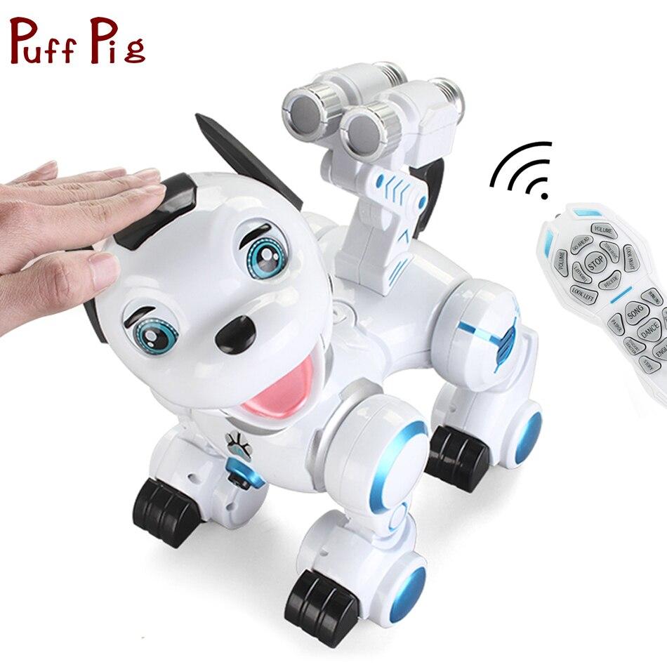 Sans fil Télécommande Robot Chien USB De Charge Électronique Pet Éducation RC Animaux Jouets Pour Enfants Cadeau D'anniversaire
