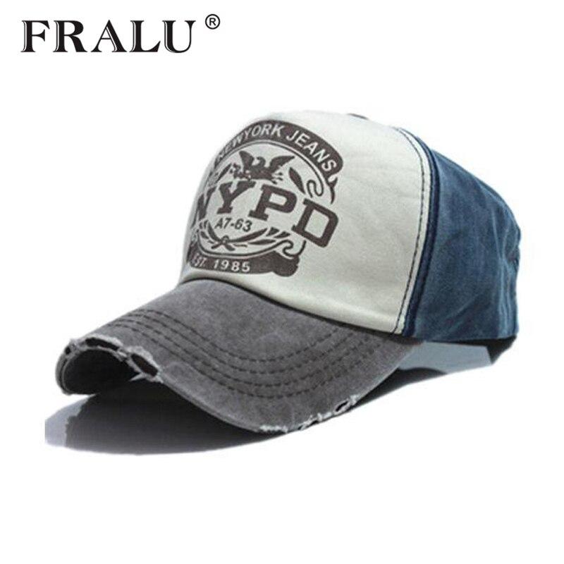 4cf23cf5fdf FRALU wholsale brand cap baseball cap fitted hat Casual cap gorras 5 panel  hip hop snapback hats wash cap for men women unisex