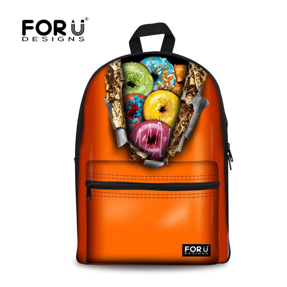 b9ad0b6b0ba1 Бренд пончик Печать Дети Рюкзак Рюкзаки для подростков Обувь для девочек  рюкзак мода школьные рюкзак Mochila