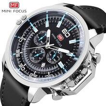 цены на MINI FOCUS Quartz Wrist Watches Men Famous Luxury Brand Mens Big Dial Sport Watch Luminous Hands Clock + Box Relogio Masculino  в интернет-магазинах