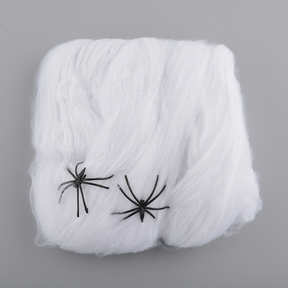 Halloween spider web decoration - Hot Funny Stretchable Plastic Spider Web Party Decoration For Halloween House Bar Props Drop Shipping