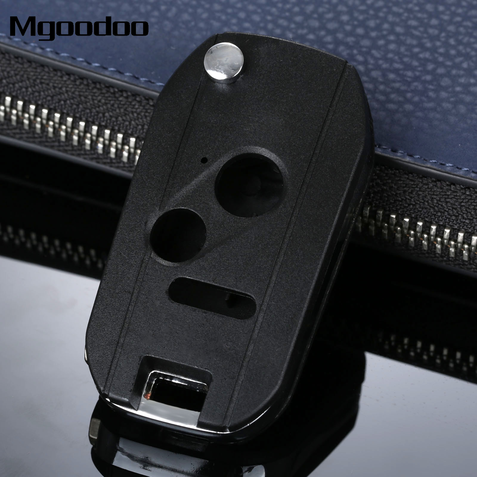 Mgoodoo 2 1 button replacement flip folding remote key shell case fob for honda odyssey lx ridgeline civic accord cr v pilot fit