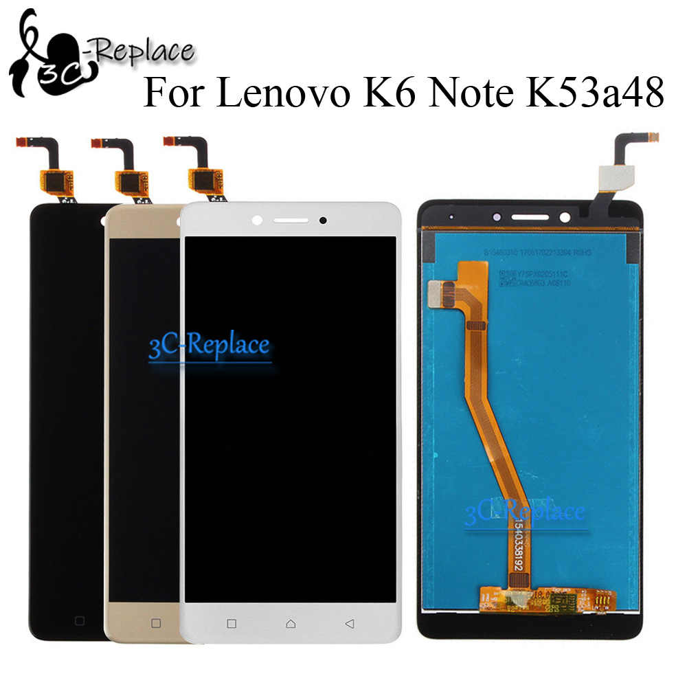 100% Tested Black/White/Gold 5.5 inch For Lenovo K6 Note / K6 Plus LCD DIsplay Touch Screen Digitizer Assembly / or Only Touch