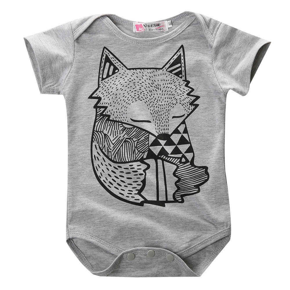 Citgeet Summer Style Baby Boy Romper Newborn Baby Clothes Cute Fox Printed New Born Baby Girl Clothing Children Toddlers Rompers Boy Romper Toddler Romperbaby Boy Romper Aliexpress